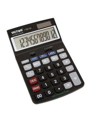 1180-3A Antimicrobial Desktop Calculator, 12-Digit LCD