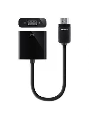 HDMI to VGA + 3.5mm Audio Adapter, M/F, 1080p, 5 ft., Black
