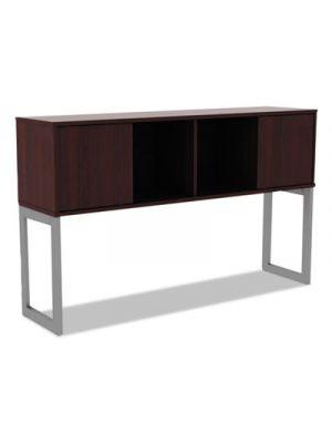Alera Open Office Desk Series Hutch, 60w x 15d x 36 1/2h, Mahogany