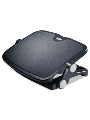 Soft Cushioned Ergonomic Footrest, 14w x 19 5/8d x 3 3/4 to 7 1/2h, Black