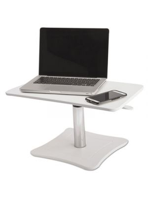 High Rise Adjustable Laptop Stand, 21 x 13 x 15 3/4, White/Chrome