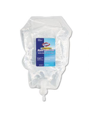 Hand Sanitizer Push Button Dispenser Refill, 1 L Bag, 6/Carton