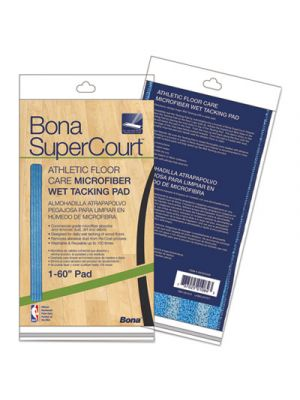SuperCourt Athletic Floor Care Microfiber Wet Tacking Pad, 60