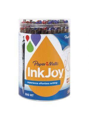 InkJoy 550 RT Retractable Ballpoint Pen, 1mm, 12 Black/12 Blue/6 Red/6 Purple