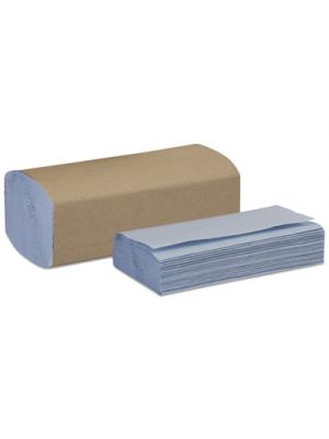Windshield Towel, One-Ply, 9 1/8 x 10 1/4, Blue, 250/Pack, 9 Pack/Carton