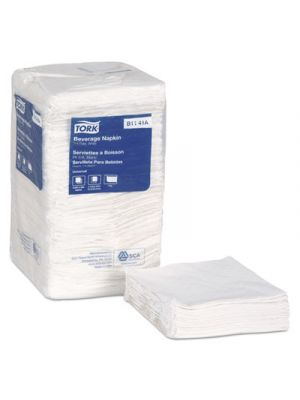 Universal Beverage Napkins, 1-Ply,9 3/8x9 3/8, 1/4 Fold,Poly-Pack,White, 4000/Ct