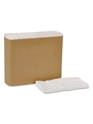 Universal Dinner Napkins, 1-Ply, 15 x 17, 1/8 Fold, White, 3000/Carton