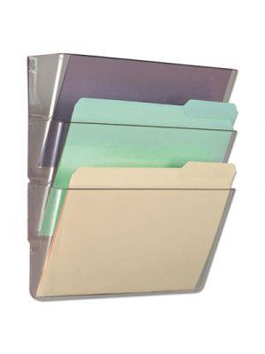 3 Pocket Wall File Starter Set; Letter; Clear