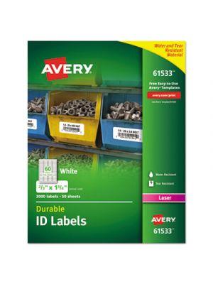 Permanent ID Labels w/TrueBlock Technology, Laser, 2/3  x 1 3/4 , 3000/Pack