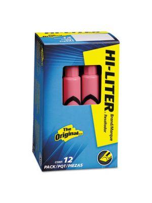 HI-LITER Desk-Style Highlighter, Chisel Tip, Light Pink Ink, Dozen