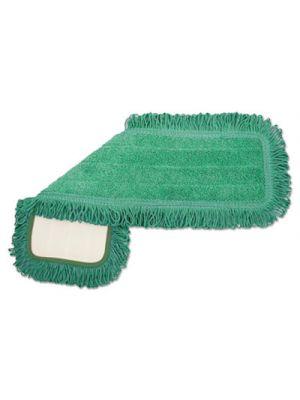 Microfiber Dust Mop Head, 18 x 5, Green, 1 Dozen