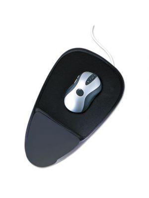SoftSpot Proline Mouse Pad w/Wrist Rest, Nonskid Base, 7 1/2 x 13, Black