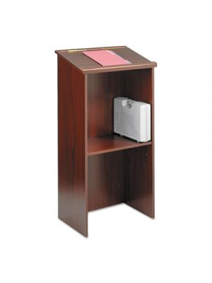 Stand-Up Lectern, 23w x 15-3/4d x 46h, Mahogany