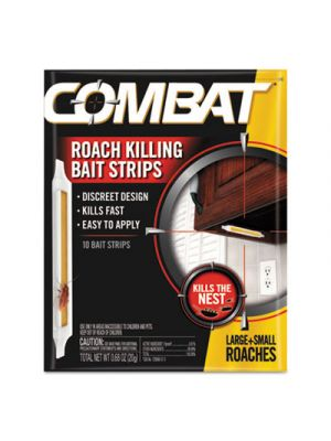 Roach Bait Insecticide Strips, 0.68 oz, 10/Pack, 12 Pack/Carton