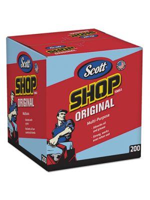 Shop Towels, POP-UP Box, Blue, 10 x 13, 200/Box, 8 Boxes/Carton