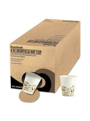 Convenience Pack Paper Hot Cups, 8 oz, Deerfield Print, 306/Carton
