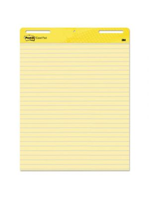 Self Stick Easel Pads, Ruled, 25 x 30, Yellow, 2 30 Sheet Pads/Carton