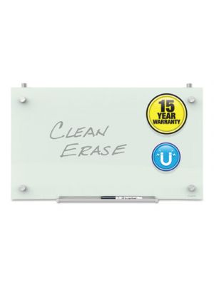 Infinity Magnetic Glass Dry Erase Cubicle Board, 18 x 30, White