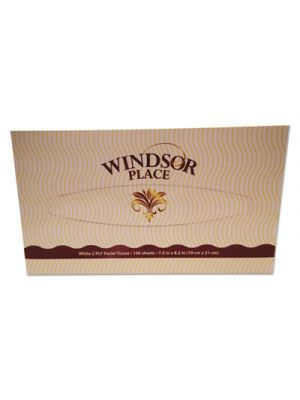 Windsor Place Premium Facial Tissue, 2-Ply, White, 7 1/2