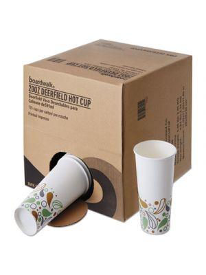 Convenience Pack Paper Hot Cups, 20 oz, Deerfield Print, 135/Carton