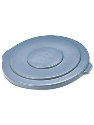 Round Flat Top Lid, for 55-Gallon Round Brute Containers, 26 3/4