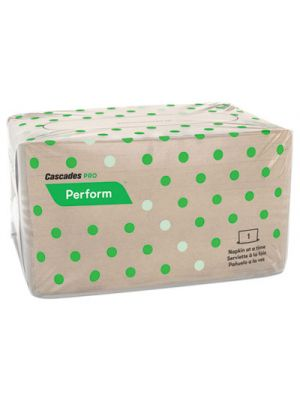 Perform Interfold Napkins, 1-Ply, 6 1/2 x 4 1/4, Natural, 188/PK, 6016/Carton
