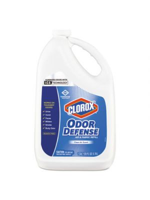 Commercial Solutions Odor Defense Air/Fabric Spray, Clean Air,1gal Bottle,4/CT