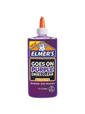 School Glue Disappearing Purple, 9 oz, 6 per pack