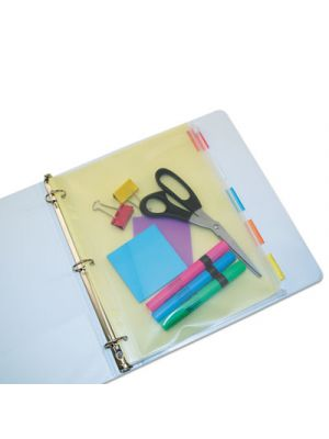Zip-All Ring Binder Pocket, 8 1/2 x 11, Clear