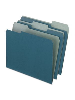 Earthwise by Pendaflex Recycled File Folders; 1/3 Top Tab; Letter; Blue; 100/BX