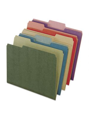 Earthwise by Pendaflex Recycled File Folders; 1/3 Top Tab; Ltr; Assorted; 50/BX