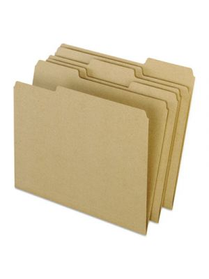 Earthwise by Pendaflex Recycled File Folders; 1/3 Top Tab; Ltr; Natural; 100/BX