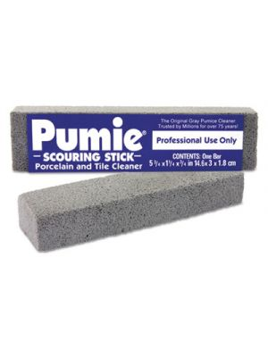 Scouring Stick, Pumie, Gray Pumice, 5 3/4 x 3/4 x 11/4, 12 per Box