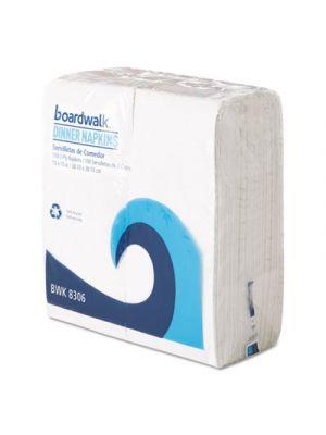 Office Packs Dinner Napkins, 2-Ply, 15 x 15, White, 3000/Carton