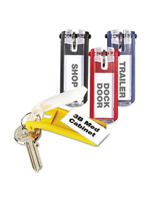 Key Tags for Locking Key Cabinets, Plastic, 1 1/8 x 2 3/4, Assorted, 24/Pack