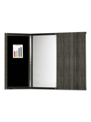 Medina Presentation Board, 48 x 48, White Surface, Gray Steel Frame