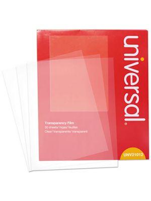 Transparent Sheets, Color Laser, Letter, Clear, 50/Pack