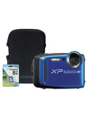 FinePix XP120 Weatherproof Digital Camera, 16.4MP, Blue