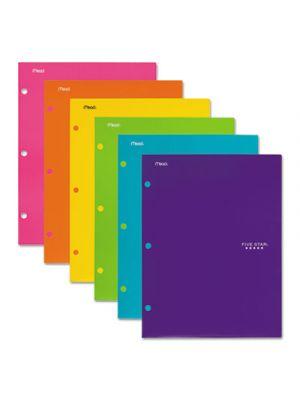 Four-Pocket Portfolio, 8 1/2 x 11, Assorted Colors, Trend Design, 6/Pack
