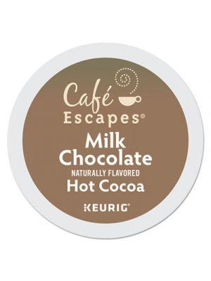 Café Escapes Milk Chocolate Hot Cocoa K-Cups, 24/Box