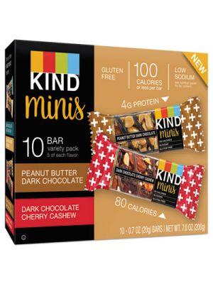 Minis, Cherry Cashew/Dark Chocolate, Dark Chocolate/Peanut Butter, 0.7 oz, 10/PK
