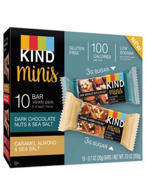 Minis, Almond and Sea Salt, Dark Chocolate Nuts, Sea Salt Caramel, 0.7 oz, 10/PK