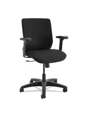 ComfortSelect B6 High Back Task Chair, Black, Fabric