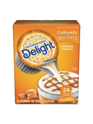 Flavored Liquid Non-Dairy Coffee Creamer, Caramel Macchiato, Mini Cups, 24/Box