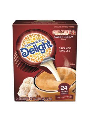Flavored Liquid Non-Dairy Creamer, Coldstone Sweet Cream, Mini Cups, 24/Box