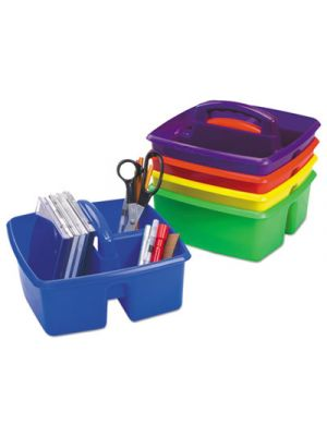 Small Art Caddies, 9.25 x 9.25 x 5.25, Blue/Red/Yellow/Green/Purple, 5 per pack