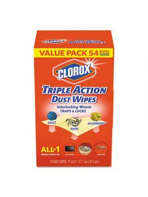 Triple Action Dust Wipes, White, 7 x 8 1/2, 54/Box, 5 Box/Carton