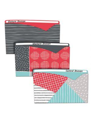 Write-On Fashion Poly File Jackets, Letter, Polypropylene, Assorted, 6/PK