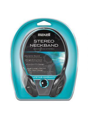NB201 Stereo Neckband Headphones, Black, 49.5