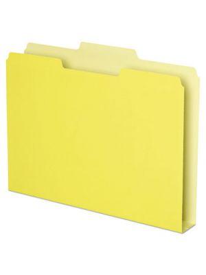 Double Stuff File Folders, 1/3 Cut, Letter, Yellow, 50/Pack